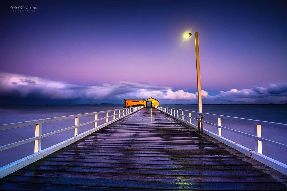 Purple hue pier