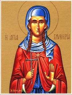 Virginmartyr Glyceria at Heraclea