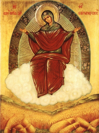 """""""Prosperess of Loaves"""" Holy Icon of the Mother of God"""