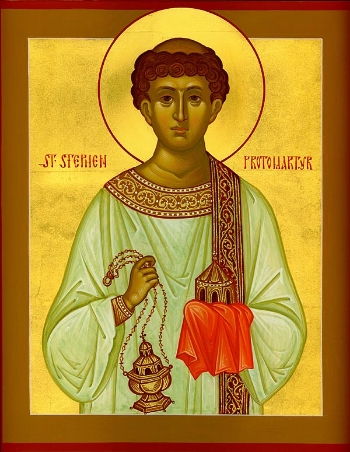 Protomartyr and Archdeacon Stephen  Please click on Icon to view bulletin
