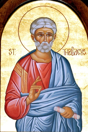 Apostle Thaddeus of the Seventy  Please click on Icon to view bulletin. ( Please note: Services held at Holy Dormition Chapel today. Saint Andrew is closed.)