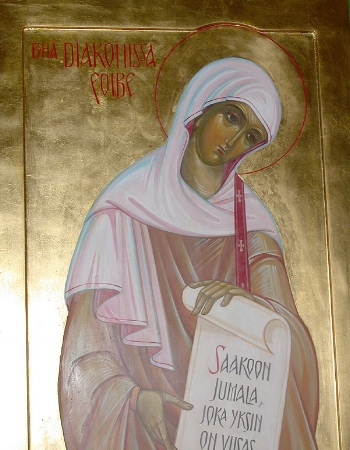 Saint Phoebe the Deaconess at Cenchreae near Corinth