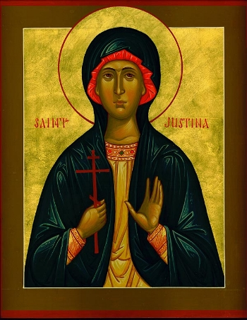 Virginmartyr Justina of Nicomedia Please click on Icon to view bulletin