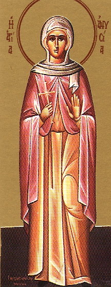 Virginmartyr Anysia at Thessalonica