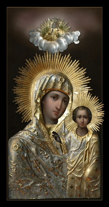 """Icon of the Mother of God """"Our Lady of Sitka""""  Please click on Icon to view bulletin"""