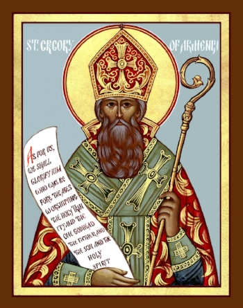 St. Gregory the Illuminator, Bishop of Armenia  Please click on Icon to view bulletin