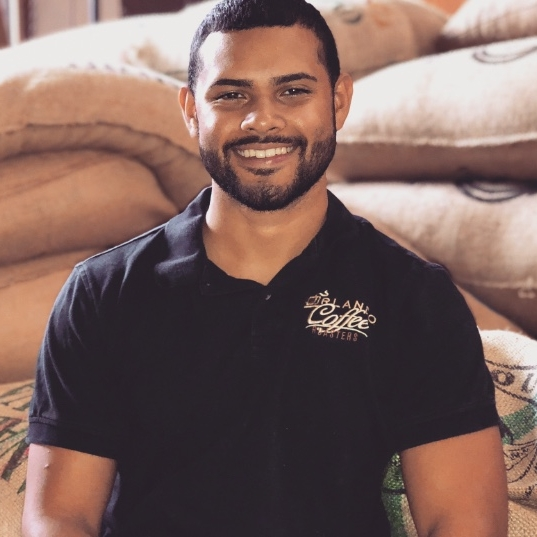 Miguel - Warehouse Assistant - Miguel enjoys working at Orlando Coffee Roasters because he likes learning about the different types of coffees and the different regions they come from. He also loves being able to work hand in hand with family to make this company grow and flourish.
