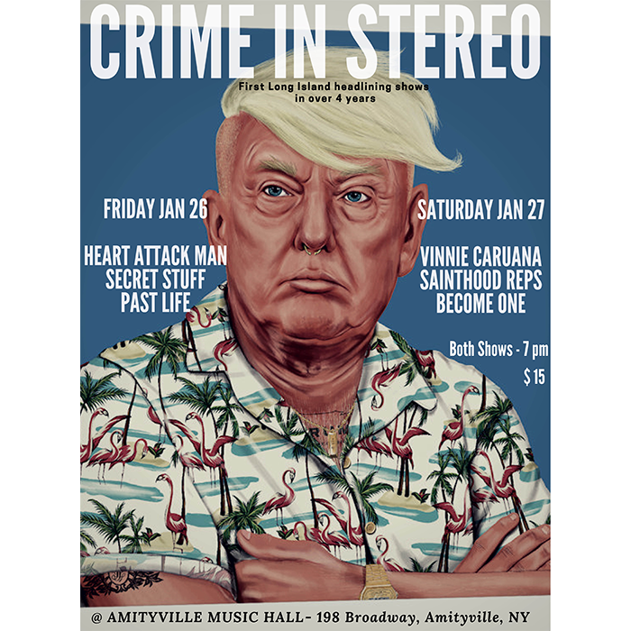 Crime In Stereo - Heart Attack Man, Secret Stuff, and Past Life$1516+ w/ ID
