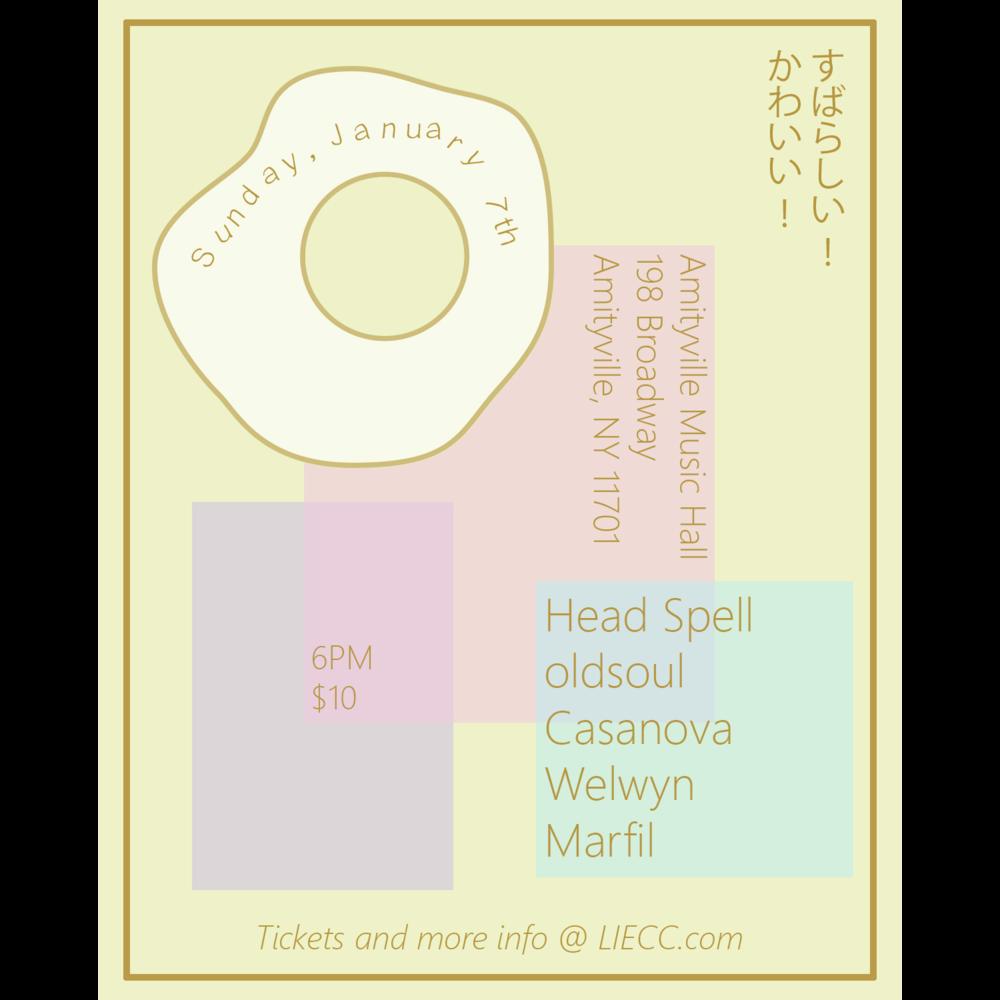 Head Spell - oldsoul, Casanova, Welwyn, and Marfil$10 ADV16+ w/ ID