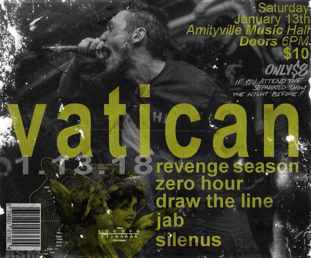 Vatican - Revenge Season, Zero Hour, Draw The Line, Jab, Silenus$1016+