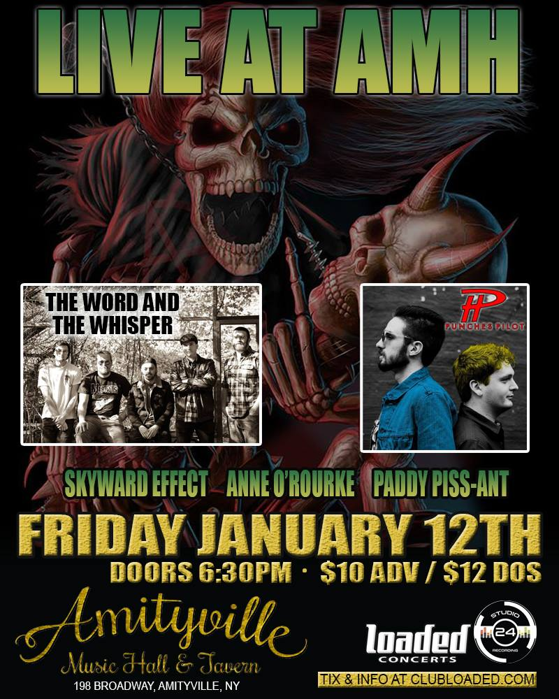 Jesse Eplan - The Word And Whisper, Skyward Effect, Anne O'Rourke, Paddy Piss-ant$10 ADV / $12 DOS16+ w/ ID