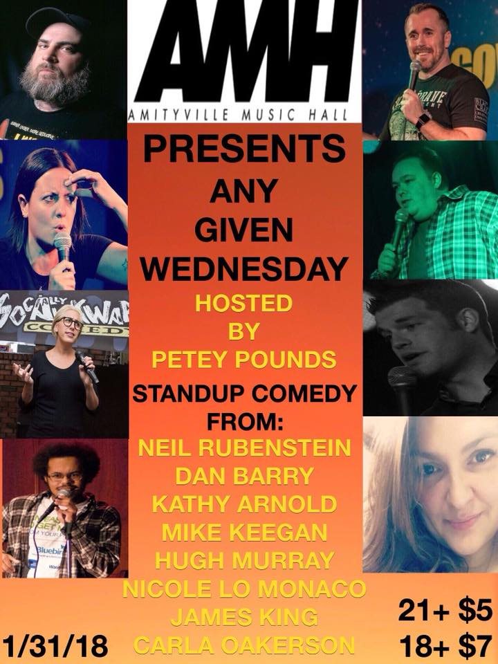 Any Given Wednesday Comedy - $5 / $718+ w/ ID