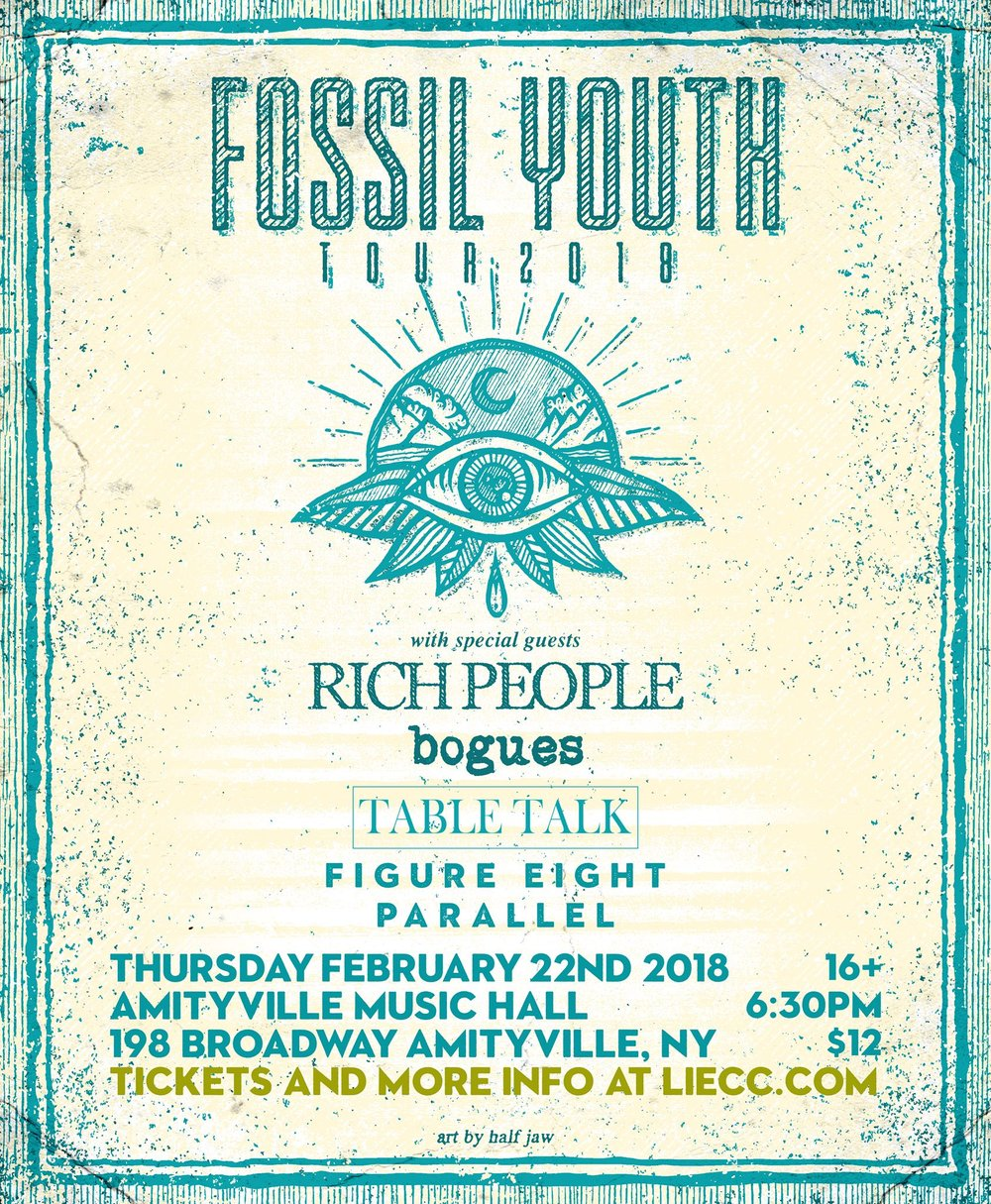 Fossil Youth - Rich People, Bogues, Table Talk, Figure Eight, and Parallel$1216+ w/ ID