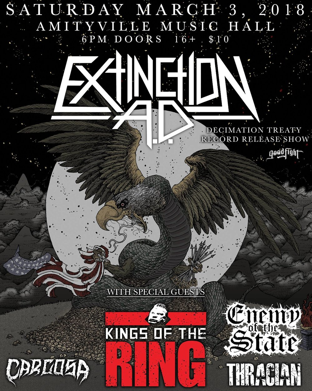 Extinction A.D. - The Kings of the RingCarcosa,Enemy Of The State,Thracian$1016+ w/ ID
