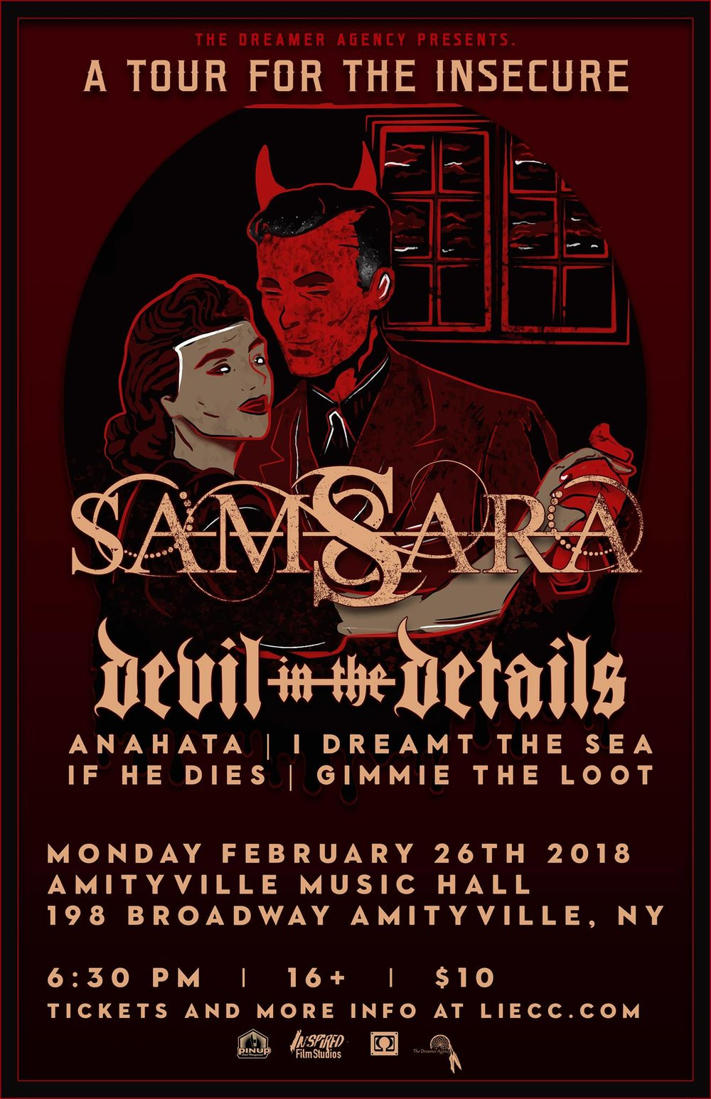 Samsara - Devil In The Details, Anahata, I Dreamt The Sea, If He Dies, Gimme The Loot$10 ADV16+ w/ ID