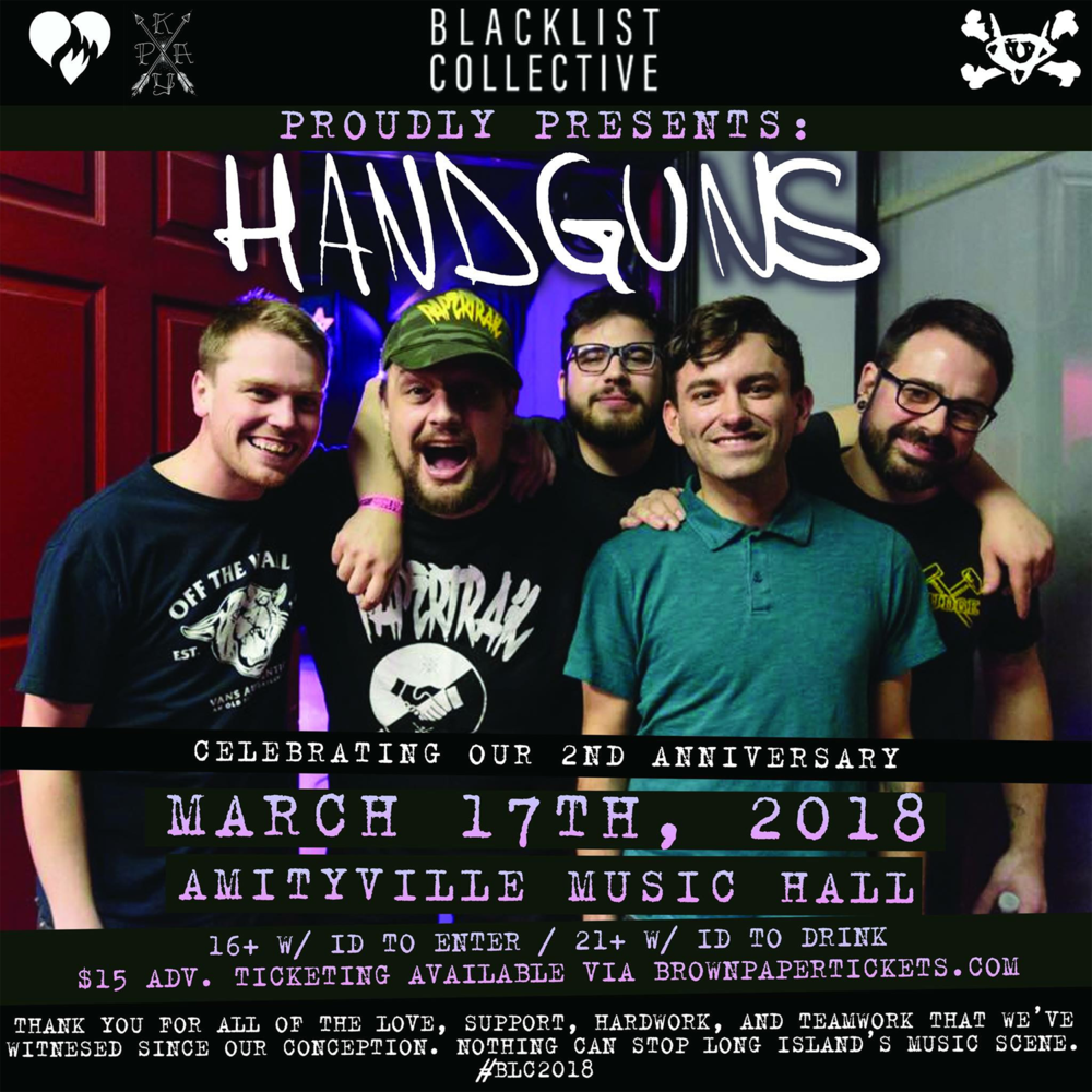 BLC presents: 2 Year Anniversary Show - Handguns, I Ignite (EP Release show), Older Than Oceans, Approaching Troy, and Suburban Zombie$15 ADV / $17 DOS 16+ w/ ID