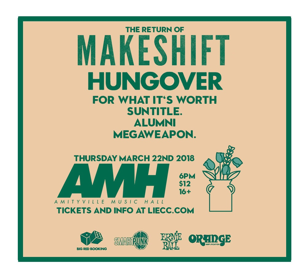 MAKESHIFT - Hungover, For What It's Worth, Suntitle, Alumni, Megaweapon$1216+ w/ ID