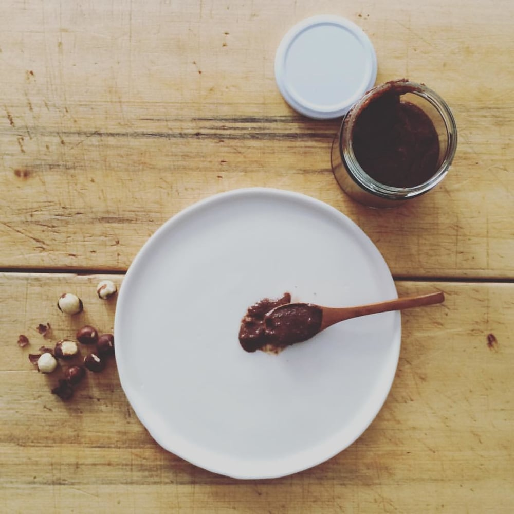 Hazel, our chocolate hazelnut spread - best served on a spoon!