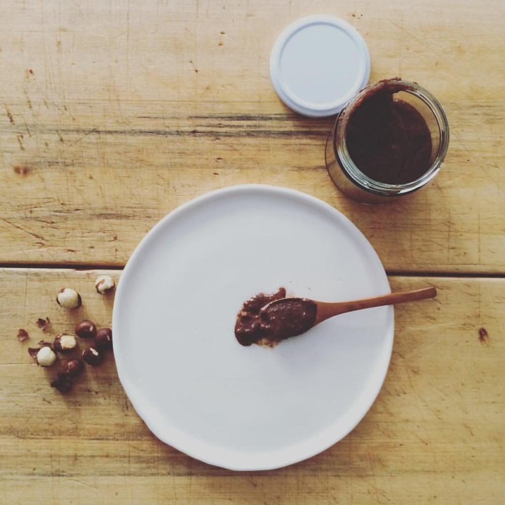 Hazel, our chocolate hazelnut spread - best served on a spoon!
