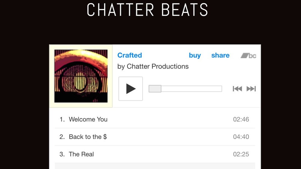 Go listen to CRAFTED on nonebetter.net/chatter-beats/ for beats now