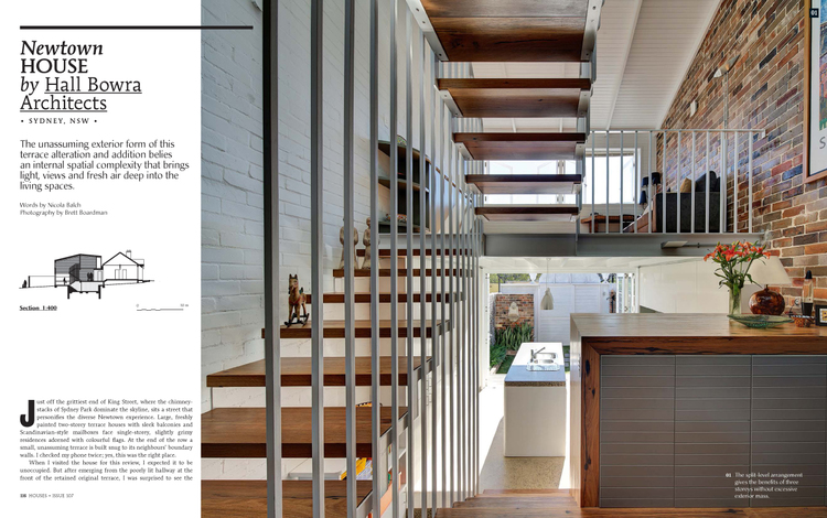 Houses, December 2015 (Issue 107) — HALL BOWRA ARCHITECTS