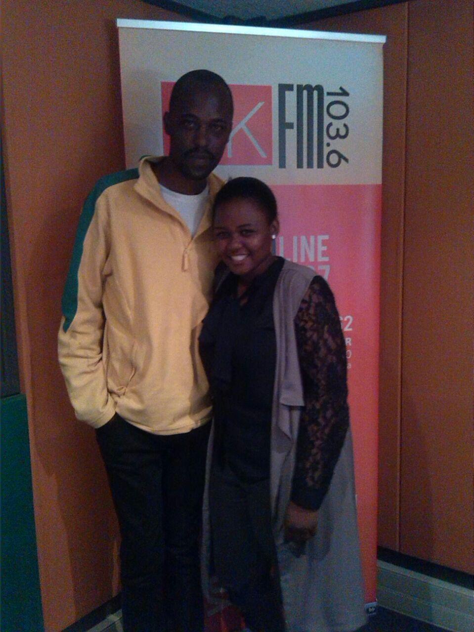 Our community builder Nokwanda with DJ Zicobashin
