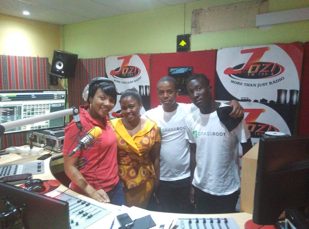 The Grassroot team with Zama Mncwango