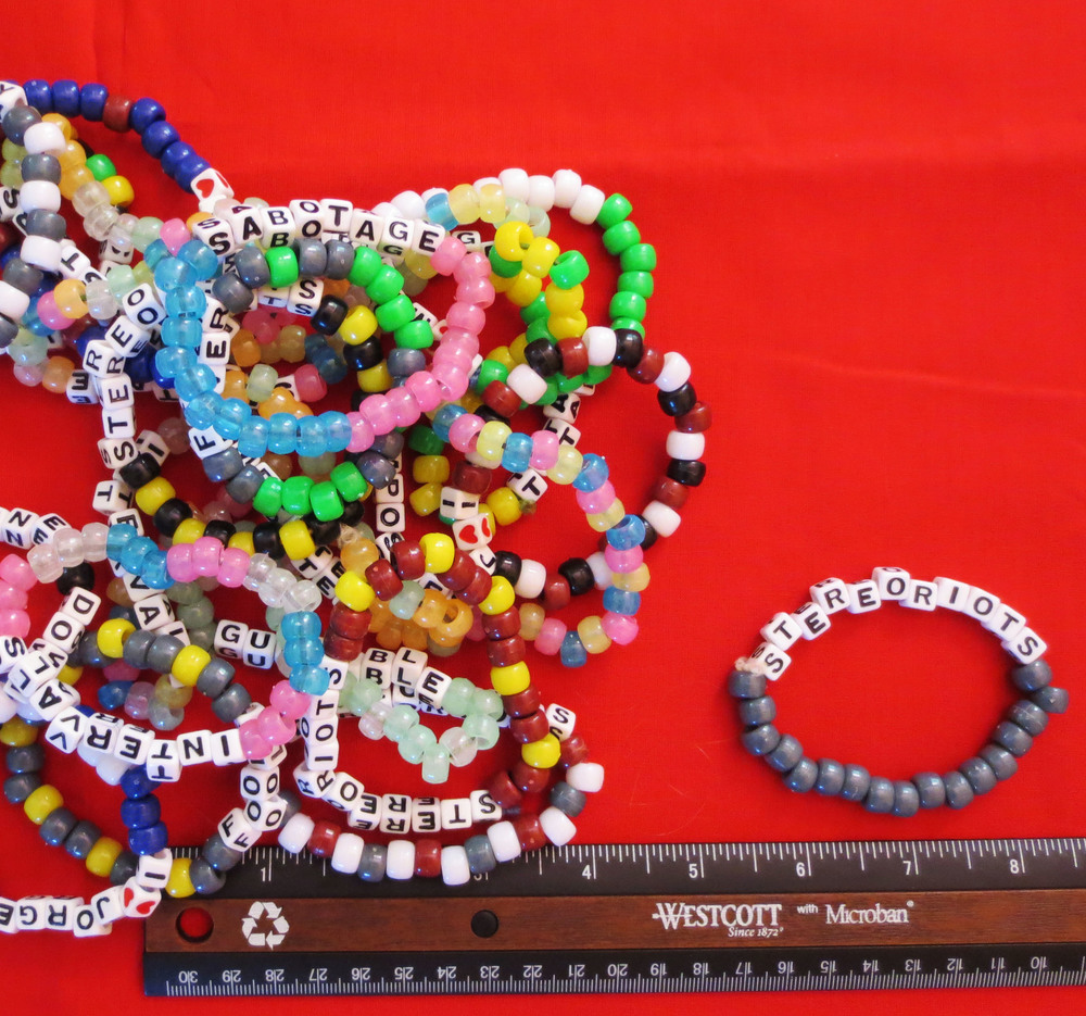 Various StereoRiots Themed Bracelets