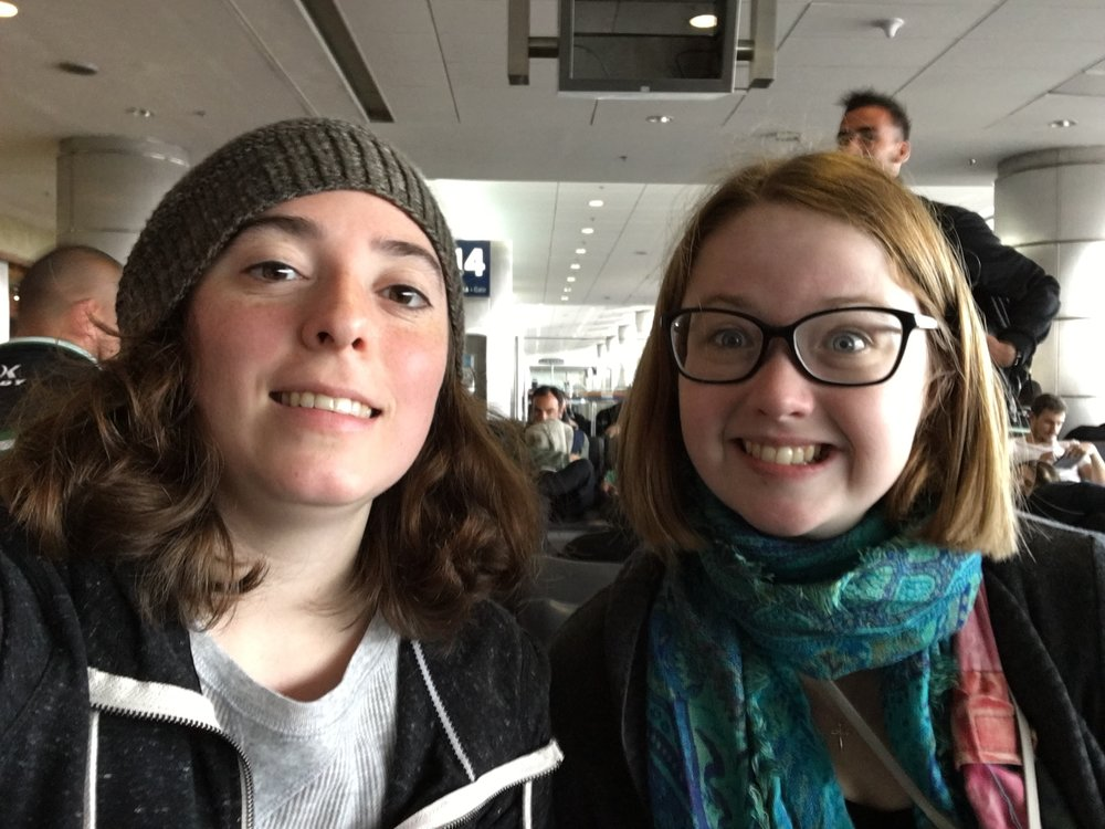 Me and Malyn left from the same airport and it was nice to have someone for a bit untill she had to cahtch her flight.