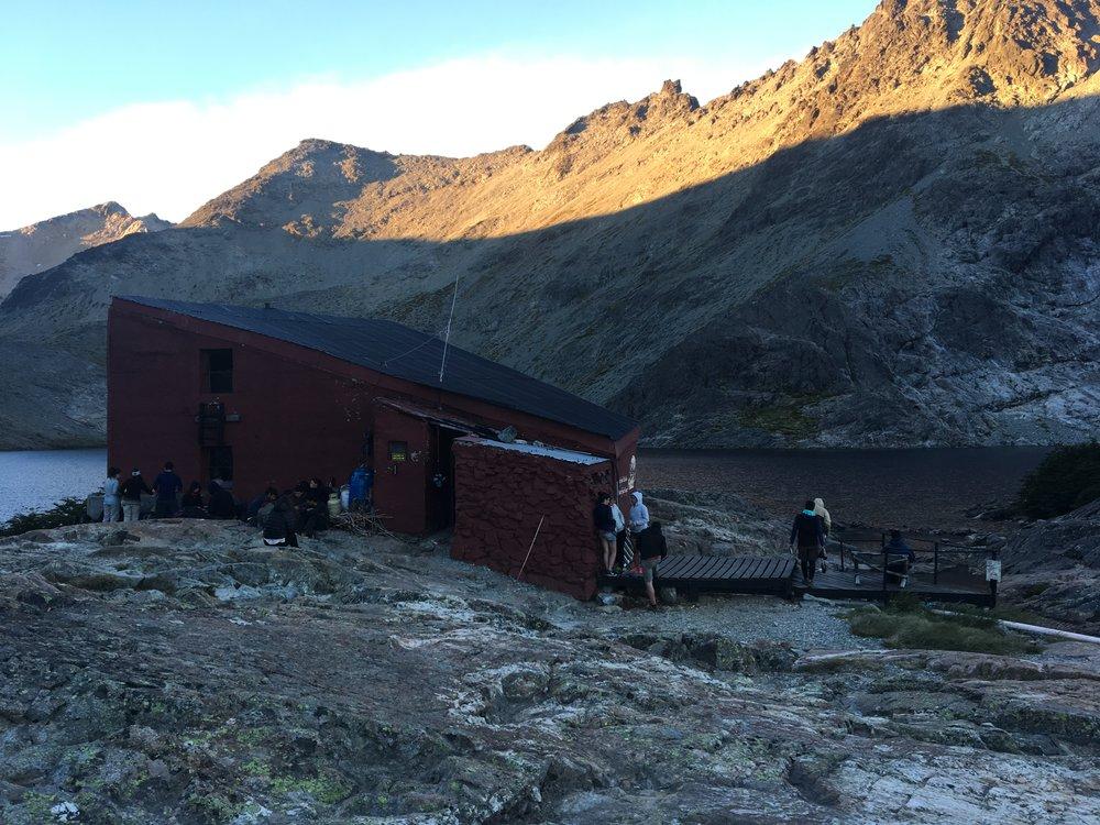 This is Refugio Laguna Negra where we spent the night.