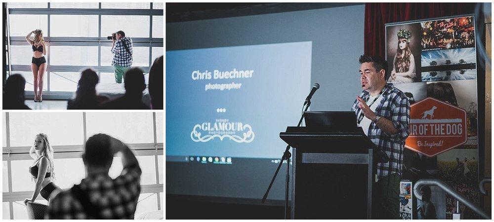 Chris teaching a posing workshop in Brisbane.