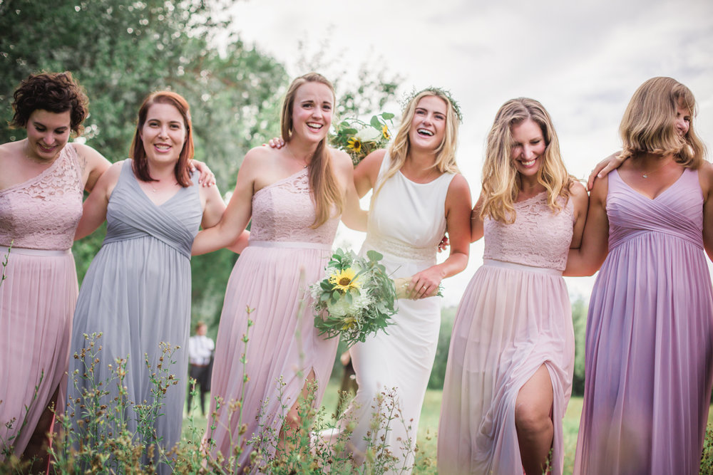 bridesmaids photography colorado