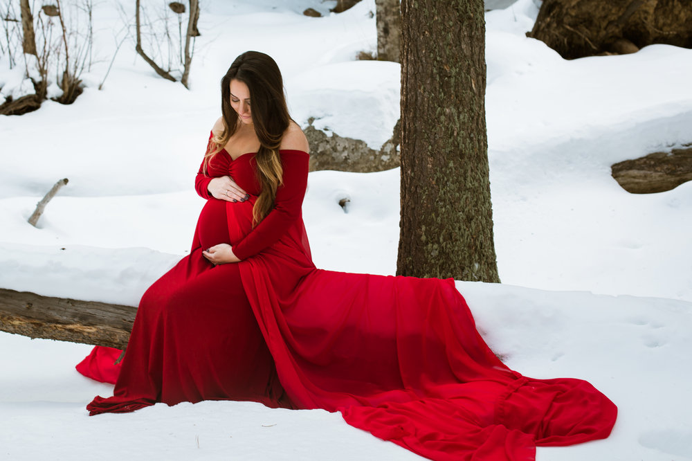 maternity dress babymoon photography colorado