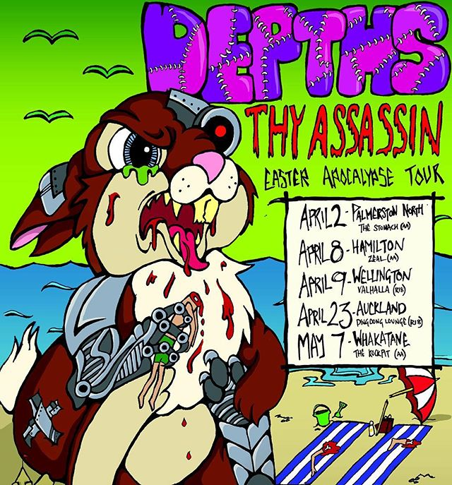 Chocolate, bunnies and brutal beatdowns. @depthsnz hit the road this Easter with @thyassassin. #easterapocalypse