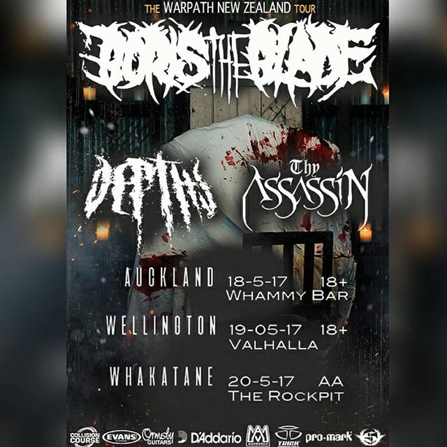 This is going to be on hell of a heavy run... @depthsnz heading out with @boristhebladeofficial this May in NZ. Prepare to be crushed. 💀🔨