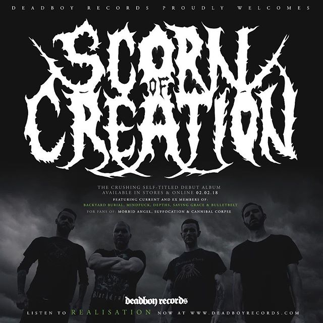 We are very excited to welcome @scornofcreation to Deadboy Records. The crushing self titled debut album is available for pre-order now. 🤟