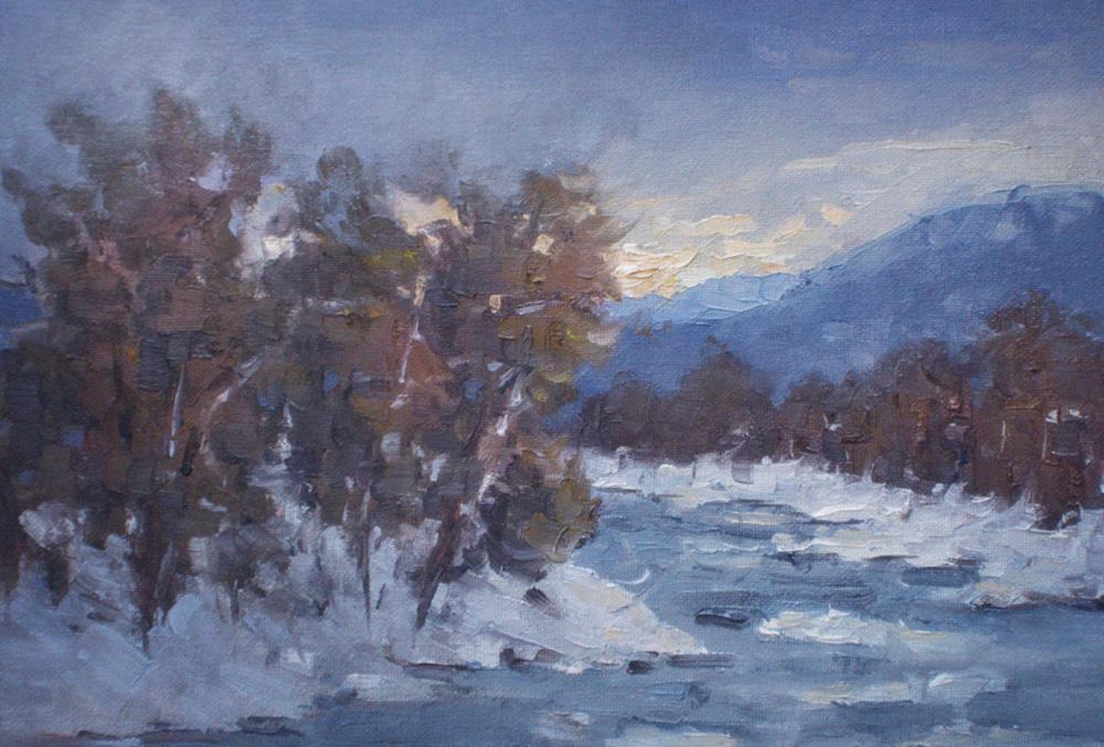 Danube  in Winter