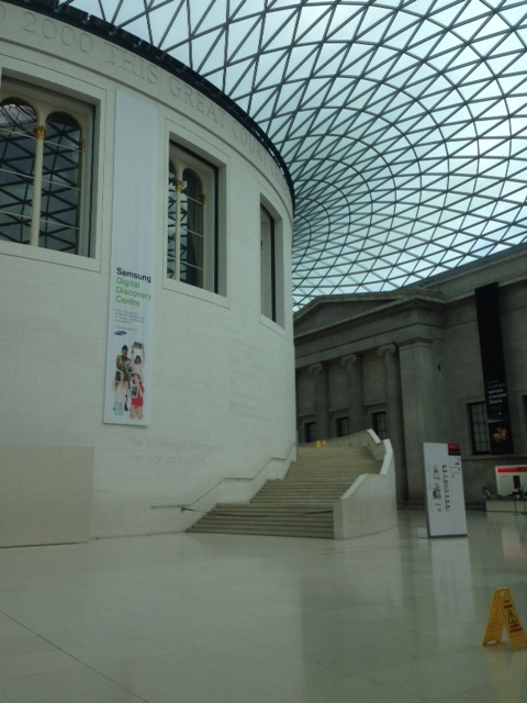 Empty British Museum at 8am!