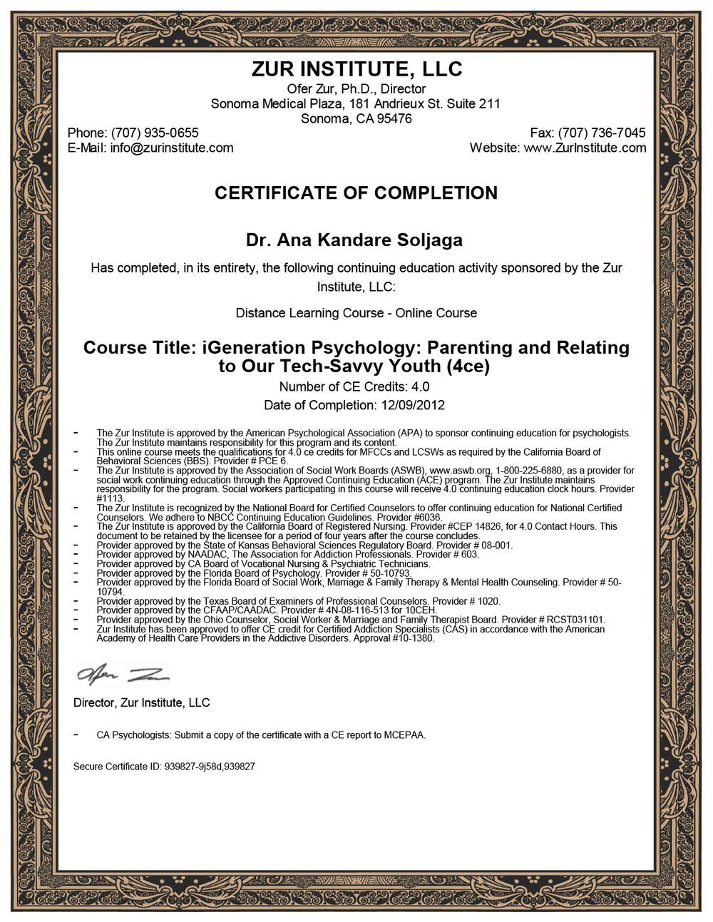 Psihologija I generacije