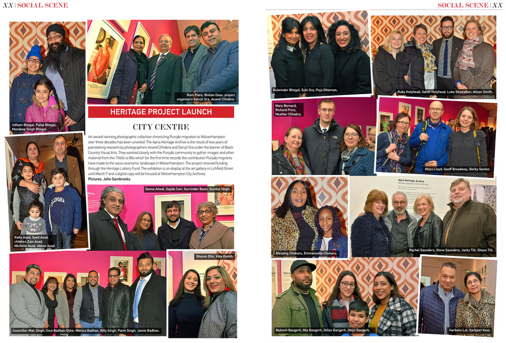 Wolverhampton Magazine, double page feature in March 2018 edition/ Exhibition Launch Event