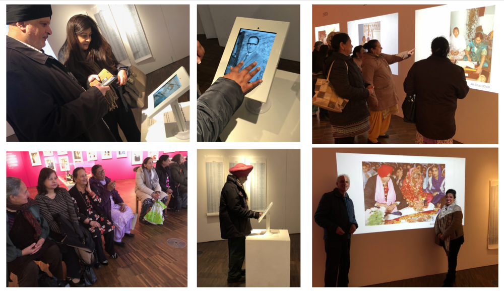 Visitors from the Panjabi community at various times visit the exhibtion at W-ton Art Gallery