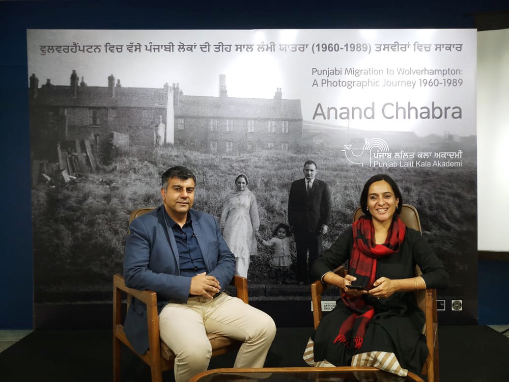 CHANDIGARH PUNJAB -  Anand Chhabra interviewed by journalist PARUL and televised around India and international and friends have reported seeing this in their homes in Wolverhampton!