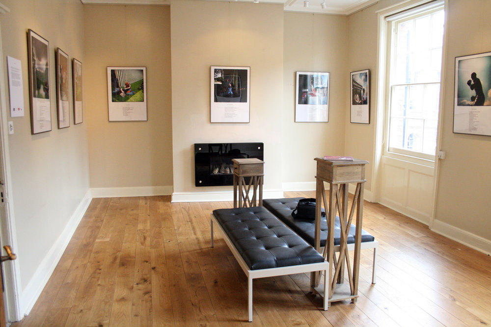 Installation view at Art and Wine gallery, Warwick 2009.