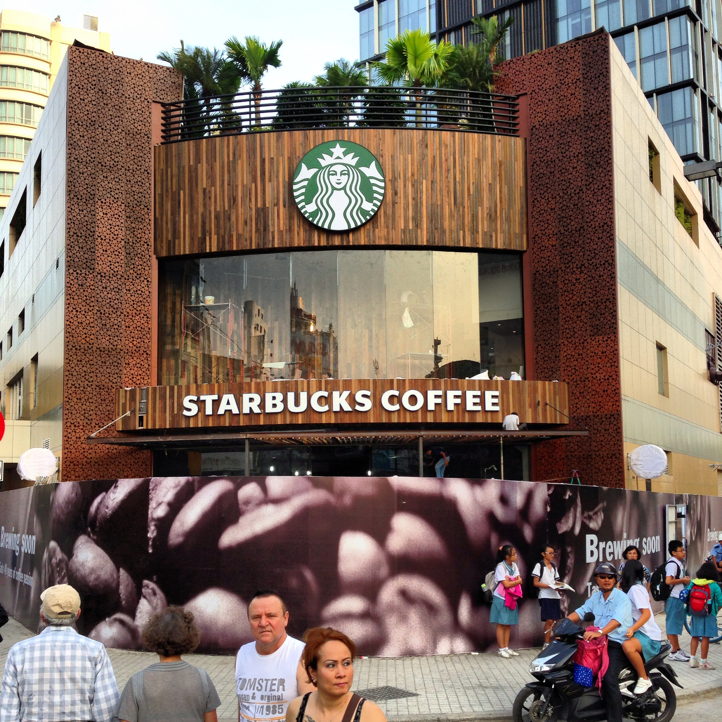 Biggest, fanciest SBUX retail ever, on one of the more expensive blocks in the city