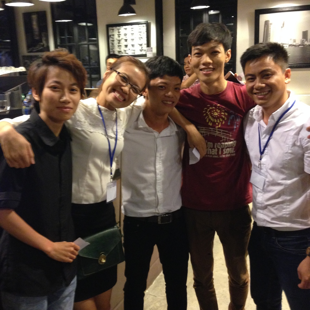Van Anh, Huong (both from The Workshop), Son (freelance trainer), Truc (Nam Long Coffee), and Truong (The Workshop) were this year's finalists after a long day of performances.