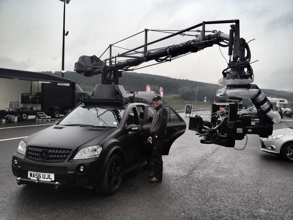 Jonathan Dennis & Russian Arm at Spa Belgium for BBC Top Gear
