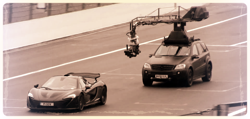 Jonathan Dennis & Russian Arm filming Mclarens P1 for BBC Top Gear and Mclaren
