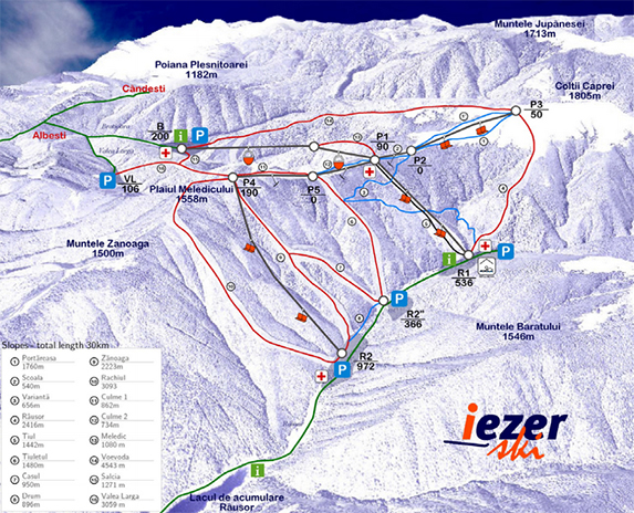 Market research, master planning a greenfield ski resort in Iezer-Papusa mountain (IEZER TURISM): Dec 2005 -May 2006