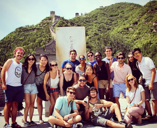 WEMUN Expo 2014 Directors gathered on the Great Wall. Image by Serena Wang.