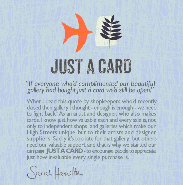 Just a Card - Each Sale Counts